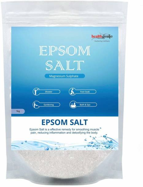 Healthgenie Epsom Salt for Relaxation and Pain Relief - 1kg.