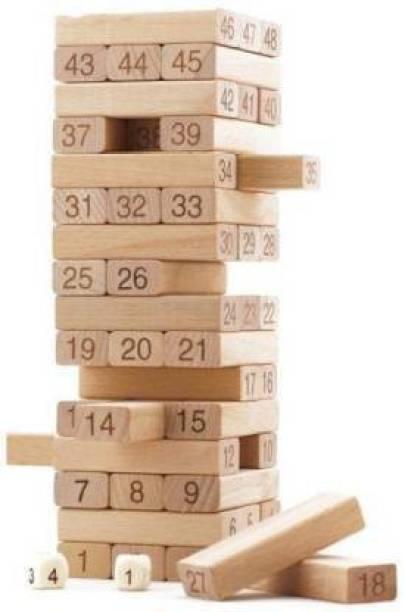 BS SALES Jenga Wooden Blocks Building Tumbling Tower Game For Kids