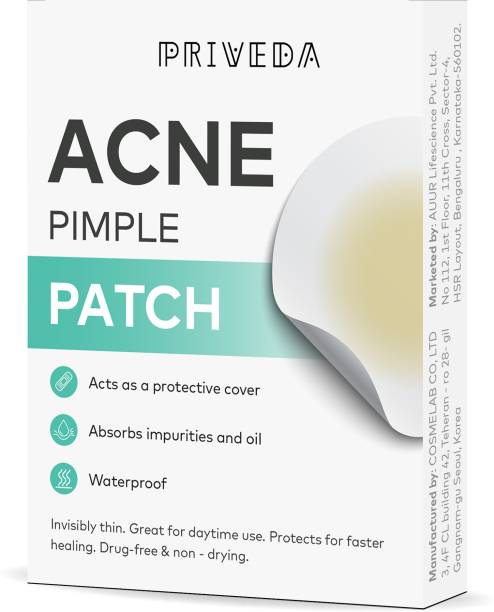 Priveda Acne Pimple Patch- Invisible Facial Stickers cover with 100% Hydrocolloid, Pimple/Acne Absorbing patch