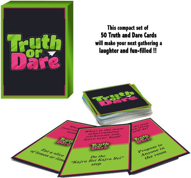 woodcraft Truth or Dare Card Game for Friends Couple and Family a Party Game