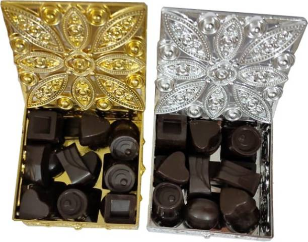 Nutty Desires Chocolates Dark Magix - with Indian & exotic dryfruits combo gift pack(100% dark chocolate) Bars