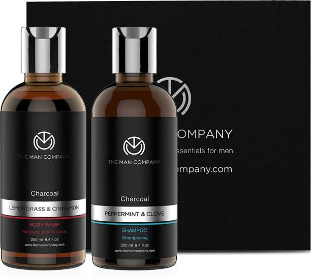 THE MAN COMPANY Charcoal combo pack for men - Shampoo and body wash