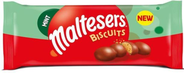 Mars Maltesers Mint Biscuits containing Crisp Honeycomb pieces Coated in milk chocolate,110g
