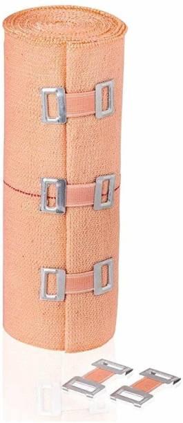 V SURZ Premium Cotton Crepe Bandage - Roll Sports Wrist Wrap Straps, Elastic Compression 10*4 MTR Crepe Bandage