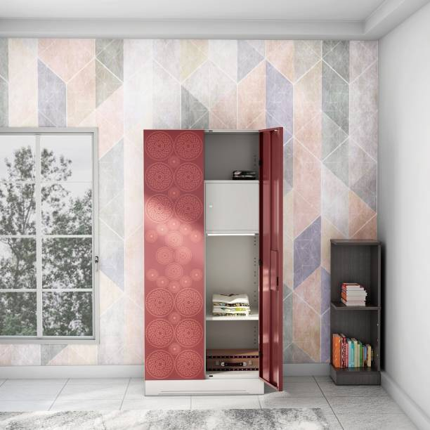 Godrej Interio Slimline Fusion 2 Door With Locker Metal Almirah