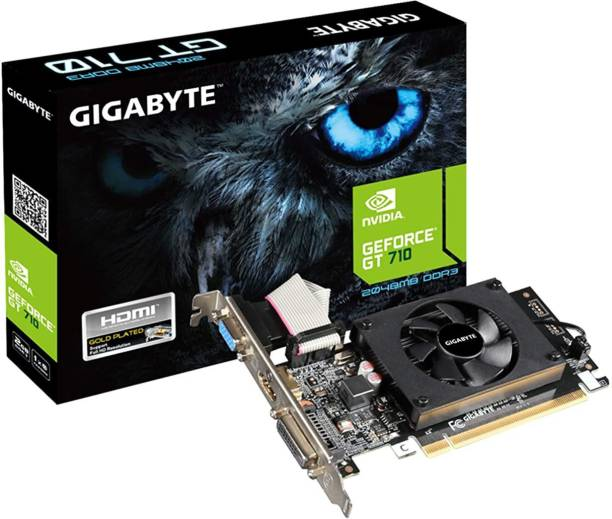 GIGABYTE NVIDIA GeForce GT 710 2GB DDR3 Memory Graphics Card 2 GB DDR3 Graphics Card