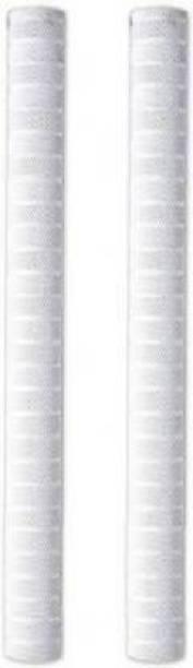 Rockjon Set of 2 Cricket Bat Grip Chevron (White, Pack of 2)
