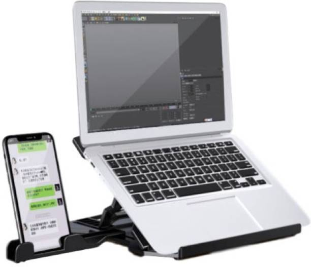 OET European Standard Foldable Plastic Laptop Stand Compatible with Mac Book and All Model Laptops LSTD-02 Laptop Stand