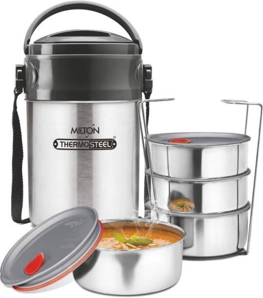 MILTON Steel On Deluxe 4 4 Containers Lunch Box