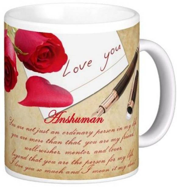 Exoctic Silver I Love You Anshuman Romantic Quote 84 Ceramic Coffee Mug