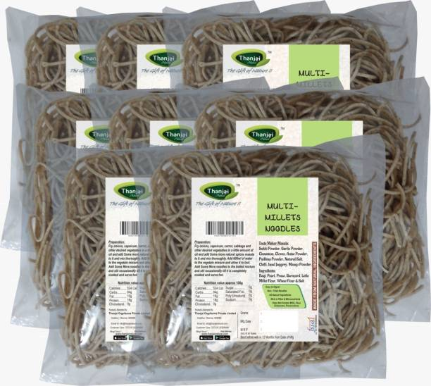 THANJAI NATURAL MULTI-Millets Noodles 180g X 8 (Processed with Natural Ingredients , No Chemicals and No Preservatives) Instant Noodles Vegetarian
