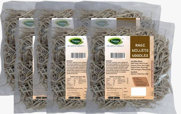 THANJAI NATURAL Ragi Millets Noodles 180g X 6 (Processed with Natural Ingredients , No Chemicals and No Preservatives) Instant Noodles Vegetarian