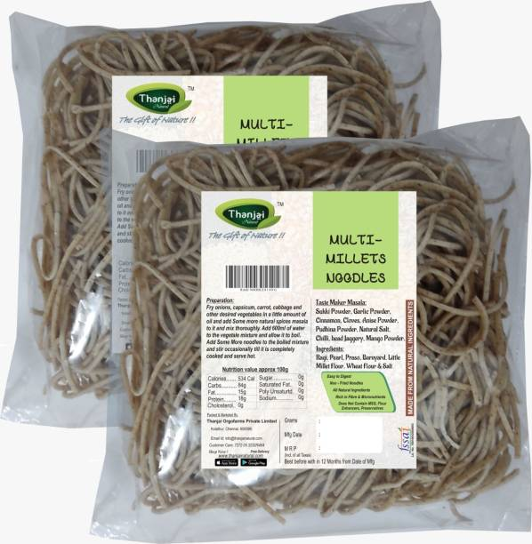 THANJAI NATURAL MULTI-Millets Noodles 180g X 2 (Processed with Natural Ingredients , No Chemicals and No Preservatives) Instant Noodles Vegetarian