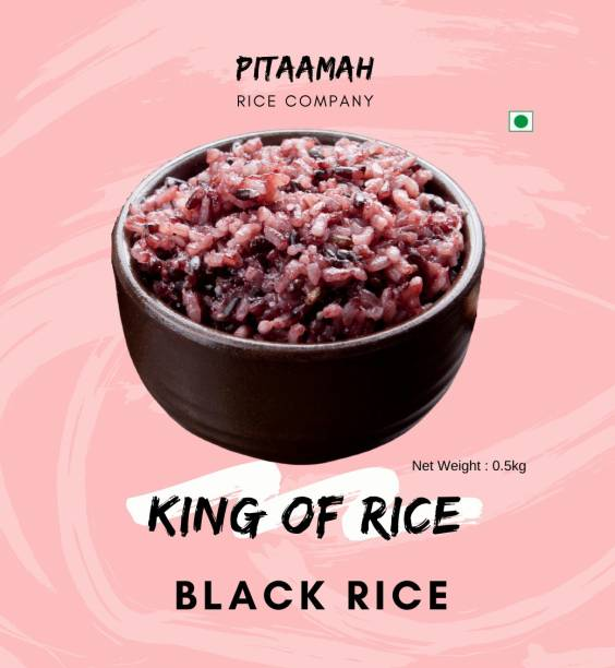pitaamah Organic Traditionally milled Black Forbidden Rice (Medium Grain, Unpolished)