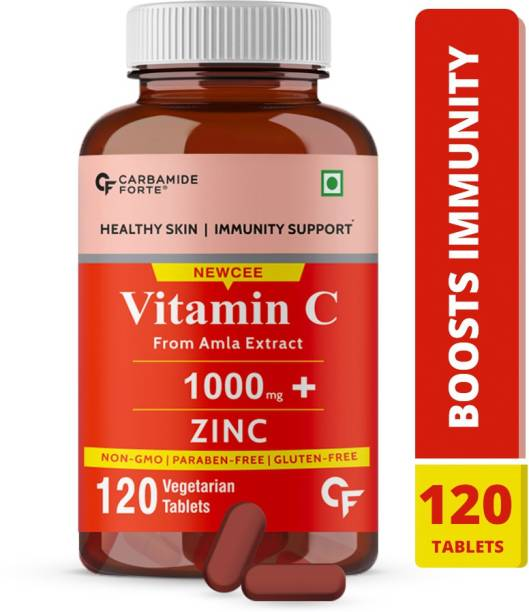 CF Natural Vitamin C Tablets 1000 mg Amla Extract With Zinc For Immunity & Skincare
