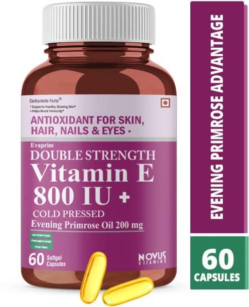 CF Vitamin E 800 IU 200mg Evening Primrose Oil Capsules for Face & Hair