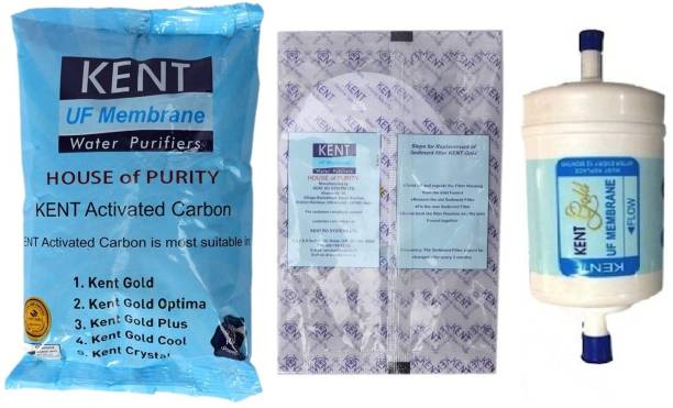 KENT gold original Spare Kit UF membrane, carbon pack & Sediment pair 4000 L Gravity Based Water Purifier