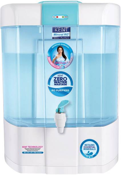 KENT PEARL ZWW MINERAL RO-11098 RO+UV+UF+TDS CONTROLLER (BLUE&WHITE) 20 LTR /HR 8 L RO + UV + UF + TDS Water Purifier