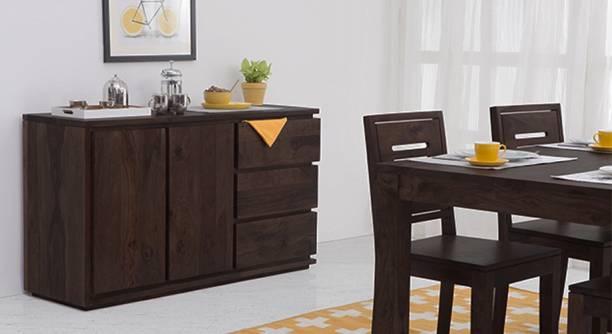Urban Ladder Vector XL Solid Wood Crockery Cabinet
