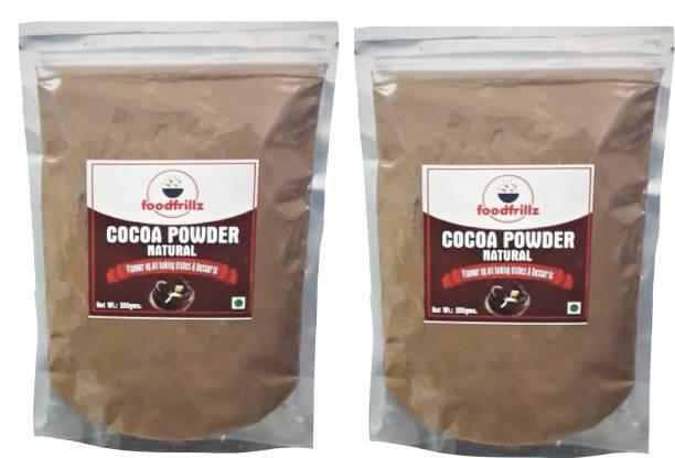 foodfrillz Cocoa Powder, Natural, 200 g each (Pack of 2) Cocoa Powder
