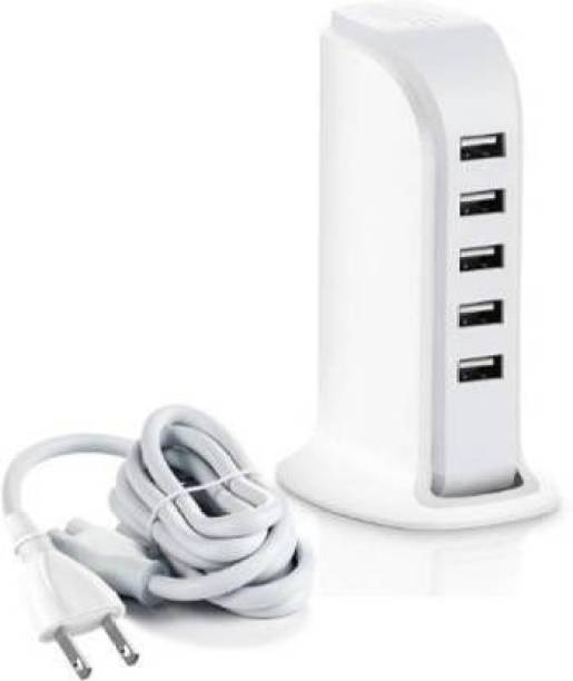FluSun india FSDTUH 30 W 6 A Multiport Mobile Charger with Detachable Cable