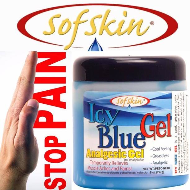 Sofskin ICY BLUE GEL, 227 Gm (American Brand) - For Pain Relief Gel