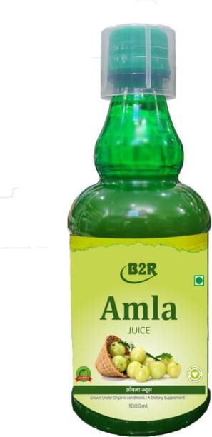 B2R Amla Juice with Health Tonic for Skin Hair and Immunity Natura and Herbal Juice Suger Free 1Ltr