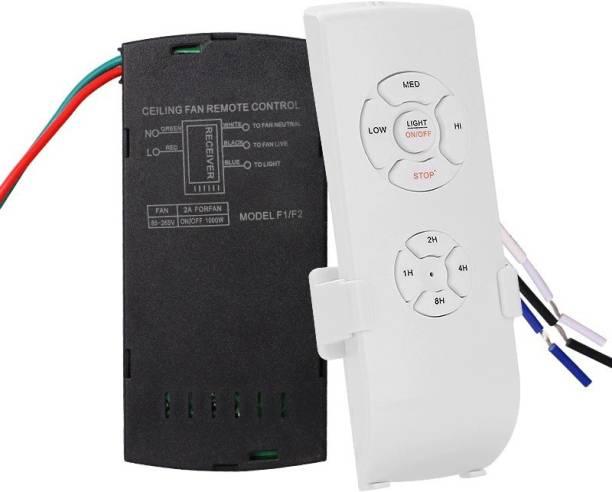 Solnoi Electronics Smart Universal Wireless Ceiling Fan Light Controller Kit Remote Adjust Speed Light Remote Control Switch Digital Wireless Remote Fan Regulator Step-Type Button Regulator