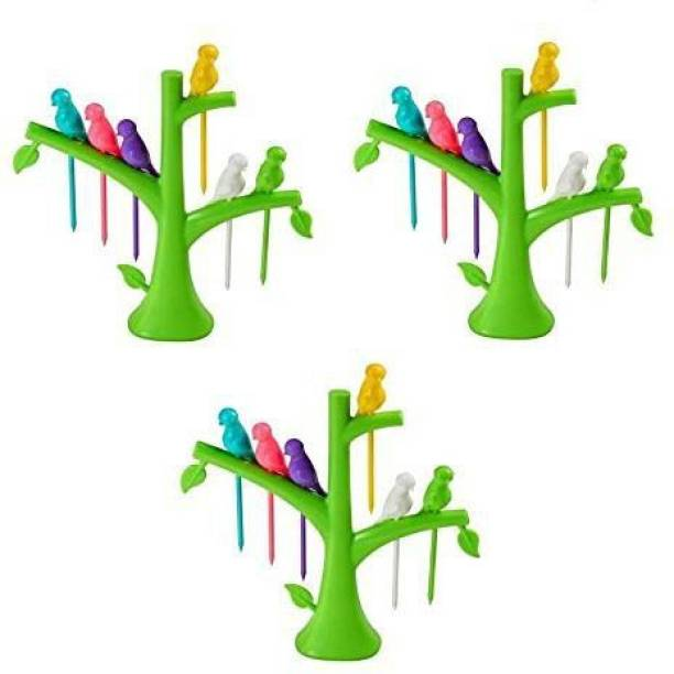 Dreammall Plastic Fruit Fork Set
