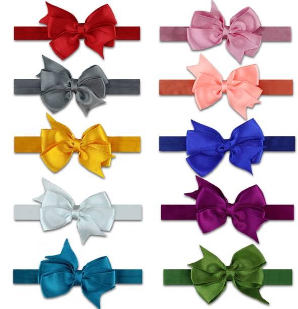 VAGHBHATT Multi-Colour Nylon Lace Head Band For Girls for Kids Girls Infant Toddler Hair Band