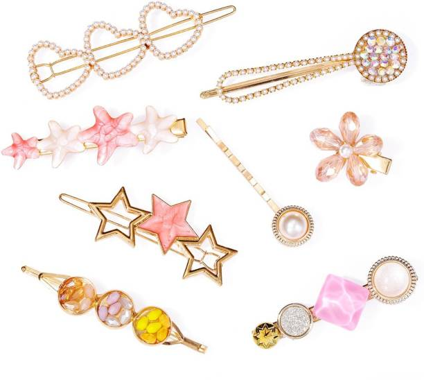 Jewels Galaxy Attractive 8 Pcs Hair Clip