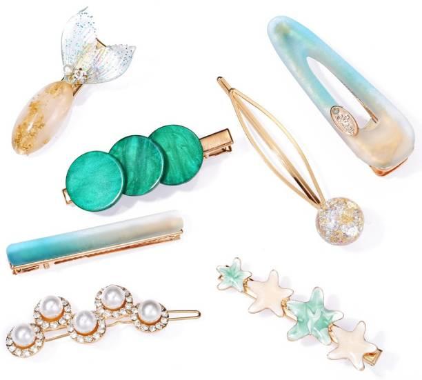 Jewels Galaxy Trendy 7 Pcs Hair Clip