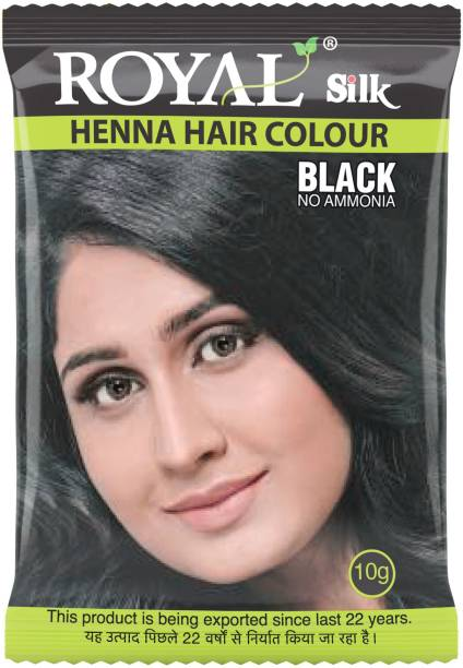 Royal Silk Henna Hair Color, Pack of 10 Pcs , Black