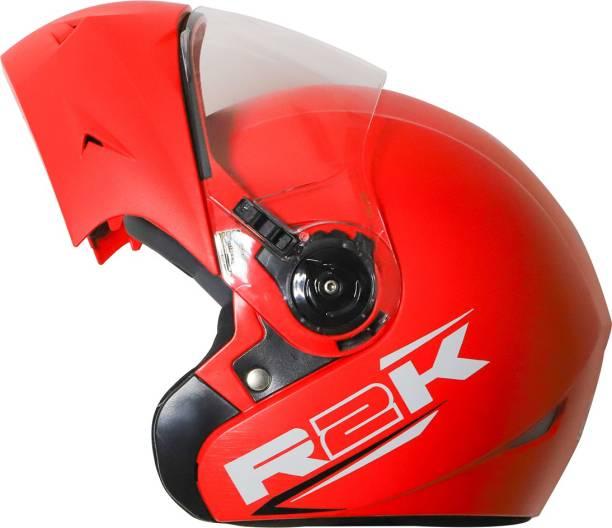 Steelbird R2K OSKA Reflective ISI Certified Flip Up Helmet Dashing Red Motorbike Helmet