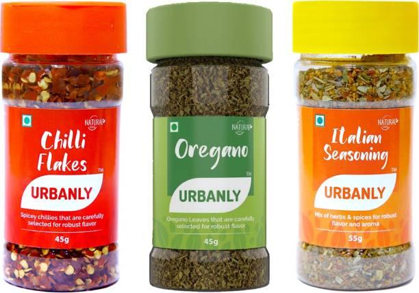 Urbanly Chilli Flakes, Oregano and Italian Seasoning (145g)