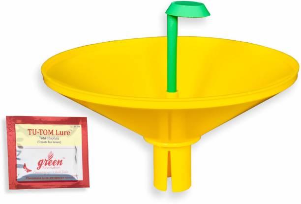 Green Revolution Water Trap with Tu-Tom Pheromone Lure (Tomato Leaf Miner) Tuta Absoluta Pheromone Trap Pack of 2)