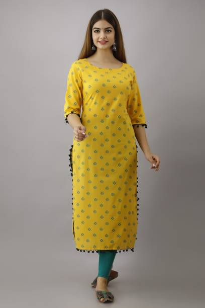 KIMAYRA Women Printed Straight Kurta