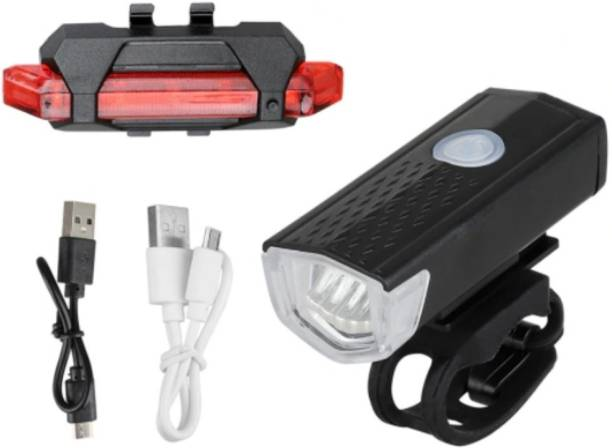 RESHNE Bicycle LED USB Rechargeable Head Light and back light LED Front Rear Light Combo