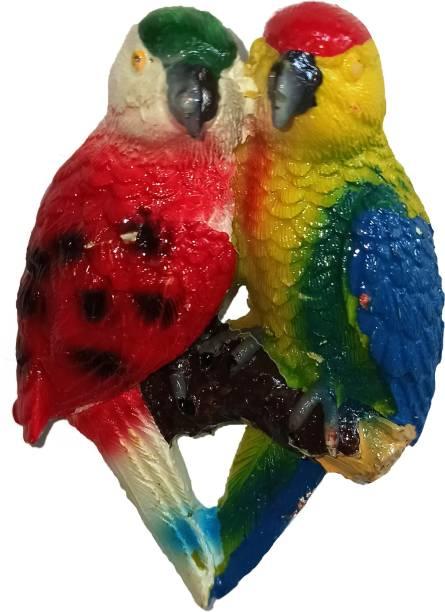 Anishop Cute 3d two parrots shape designer decorative fridge magnet for home Fridge Magnet Pack of 1