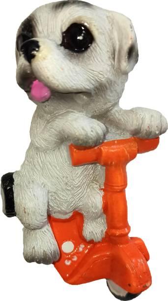 Anishop Cute 3d Cycle dog shape designer decorative fridge magnet for home Fridge Magnet Pack of 1