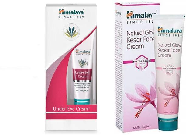 HIMALAYA UNDER EYE CREAM_15gm & NATURAL GLOW KESAR FACE CREAM_50g ( 2 items in pack )
