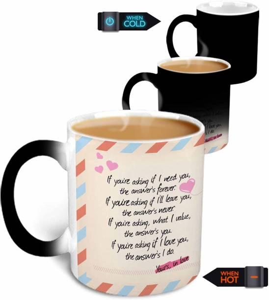 "HOT MUGGS Postcard Design ""If you're asking…"" Magic Ceramic,350ml. Ceramic Coffee Mug"
