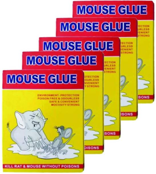 DeoDap Adhesive Sticky Glue Pad for Mouse Trap Insect Rodent Lizard Rat Traps Catcher Non Poisonous and Toxic Live Trap Pack of 5 (Small) Snap Trap