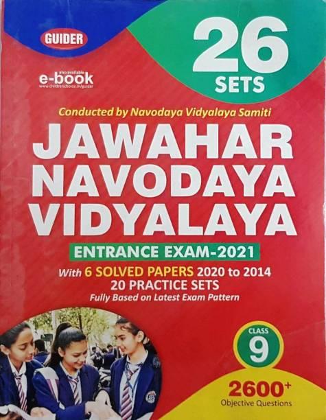 Jawahar Navodaya Vidyalaya Entrance Exam 2021 Class 9 (26 Sets) In Eng