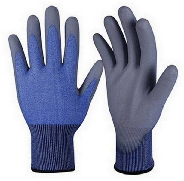 RBGIIT Washable Reusable Cut Chemical Shook Restitance Gardener Farmer Factory Worker Steel Wooden Cement Traspotion Worker Regular Uses And Safe Hand Protective Jums Bactriyas Any Micro Dust Safety Hand GlovesJHN77 Nylon  Safety Gloves