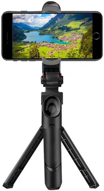 BUY SURETY High Quality 3in1 Selfie Stick multi-function Wireless Bluetooth XT-01 , XT-02 Selfie Stick with Remote Shutter 360 Rotate Extendable Handheld Foldable Mini Tripod Stand Foldable, selfie stick, tripod, bluetooth shutter for Smartphones Professional Remote Control Selfie Stick Monopod Kit, Tripod