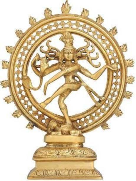 S-QUBE Pure Brass Natraj Shiva God Idol, Dancing God Natraj Shiva God (Height - 24cm) Decorative Showpiece  -  24 cm