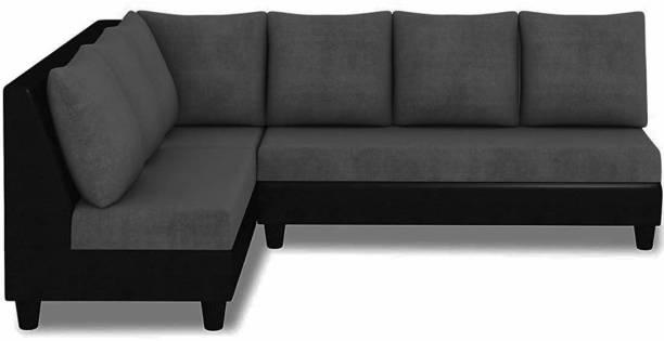FURNY Algeria Corner L Shape Fabric 6 Seater  Sofa