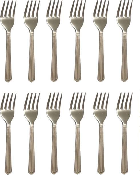 Vilsa Folk Spoon For Desert ,Fruits , Salad Folk Stainless Steel Dinner Fork Set