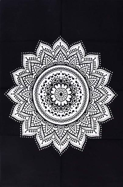 Heyrumbh Handicrafts Ombre Mandala Hippie Psychedelic Boho Bohemian Cotton Decorative Wall Hanging Tapestry Poster 40 X 30 Inches Tapestry